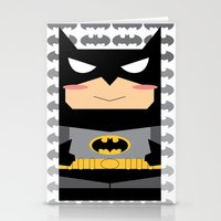 superhero Stationery Cards featuring Superhero by Xiao Twins