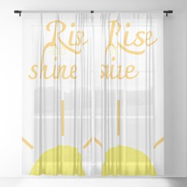 rIsE aNd ShInE Sheer Curtain