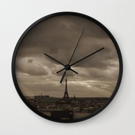 Rooftop view of Paris Wall Clock