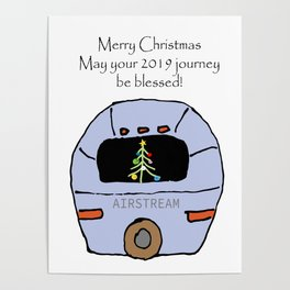 Airstream 2019 Christmas card Poster