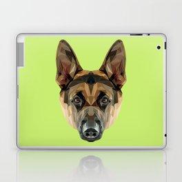 German Shepherd // Green Laptop & iPad Skin
