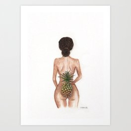 Bronzed beauty- watercolor Art Print