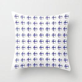 Flag of Finland 5 -finnish, Suomi, Sami,Finn,Helsinki,Tampere Throw Pillow