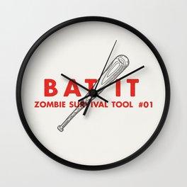 Bat it - Zombie Survival Tools Wall Clock