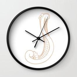 Fancy J Wall Clock
