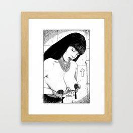 asc 694 - L'empire du burlesque (Burlesque made me a better mom) Framed Art Print