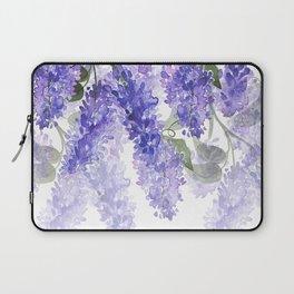 Purple Wisteria Flowers Laptop Sleeve