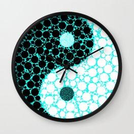 yin yang eastern asian philosophy Wall Clock