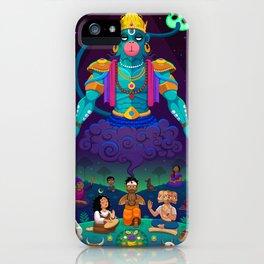 Summoning Hanuman iPhone Case
