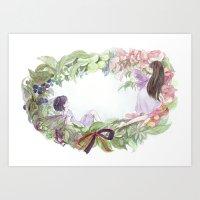 fairies Art Prints featuring fairies by acca