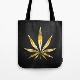 Gold Leaf Cannabis Tote Bag