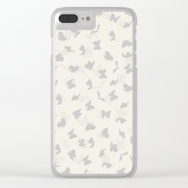 flying butterflies in pastel colors Clear iPhone Case