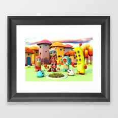 Lilly in Pixyland - The Frings Village Framed Art Print