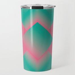 two energies pink green tower Travel Mug