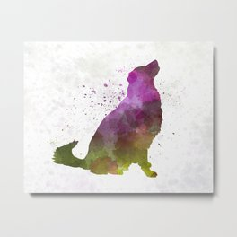 Karst Shepherd Dog in watercolor Metal Print