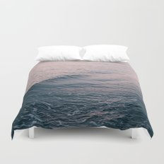 Pink Sunset Waves Duvet Cover