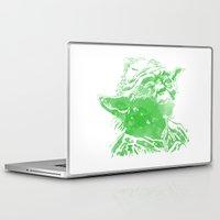 yoda Laptop & iPad Skins featuring Yoda by DanielBergerDesign