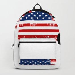 USA American Flag Basketball Basketball Player Gift Backpack