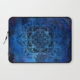 Doctor Who Clockwork Droid Mandala x Watercolor Nebula Laptop Sleeve