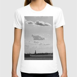 Black and White Silhouette Lady T-shirt