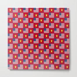 Mix of flag: usa and vietnam Metal Print
