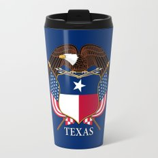 Texas flag and eagle crest - original concept and design by BruceStanfieldArtist Travel Mug