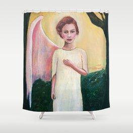 Broken Angel Shower Curtain