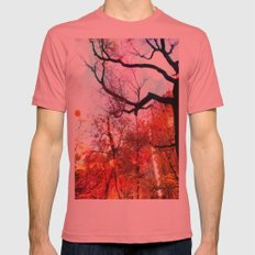 Color Blocked SMALL Mens Fitted Tee Pomegranate