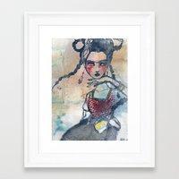 jane davenport Framed Art Prints featuring Frida is an Emotion by Jane Davenport by Jane Davenport