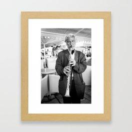 Clarinet Player, Greece Framed Art Print