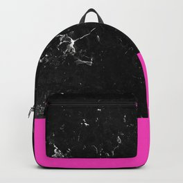 Pink Meets Black Marble #1 #decor #art #society6 Backpack