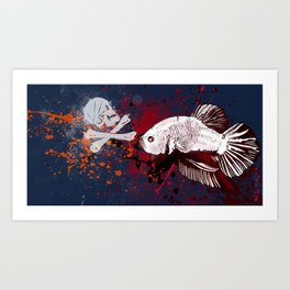 Pirate Betta Fish Art Print