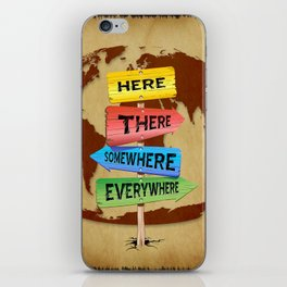 Directions Panels Wanderlust iPhone Skin