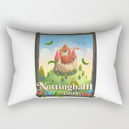 Nottingham Castle Travel poster Rectangular Pillow