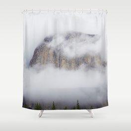 Foggy Mountain (Color) Shower Curtain
