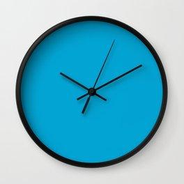 CRAYOLA CERULEAN BLUE solid color Wall Clock