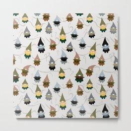 Gnome  pattern 1e Metal Print