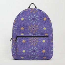 Flower Bloom Petals Vector Pattern Backpack