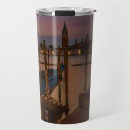 VENICE Gondolas during sunrise Travel Mug