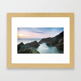 Sunset at Oregon's Indian Sands Framed Art Print