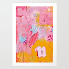 story of N - abstract painting Art Print