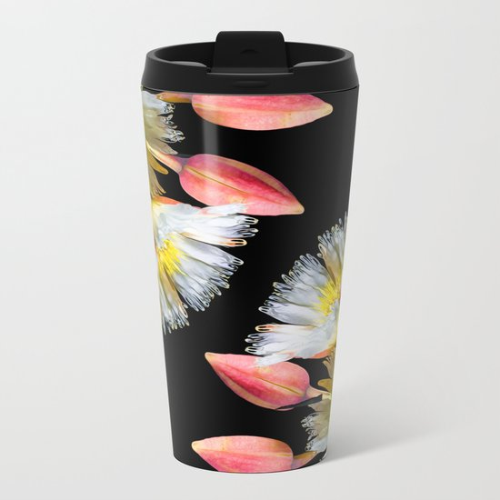 Bold and Wild Flowers Metal Travel Mug