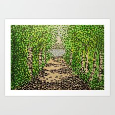 Birch Path Art Print