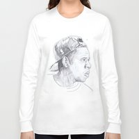 jay z Long Sleeve T-shirts featuring Jay Z - Go Home by davidcain_art