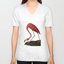 Flamingo Large Print Unisex V-Neck