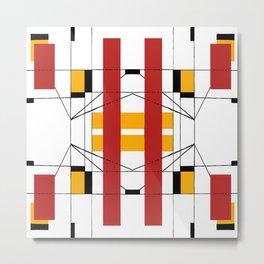 Geometric Abstaction Metal Print