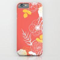 Coral Retro Floral iPhone 6s Slim Case