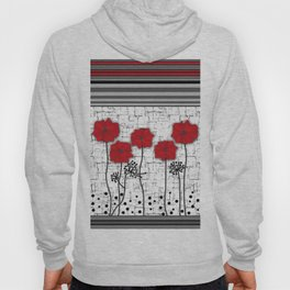 Applique. Poppies on a bright white background . Hoody