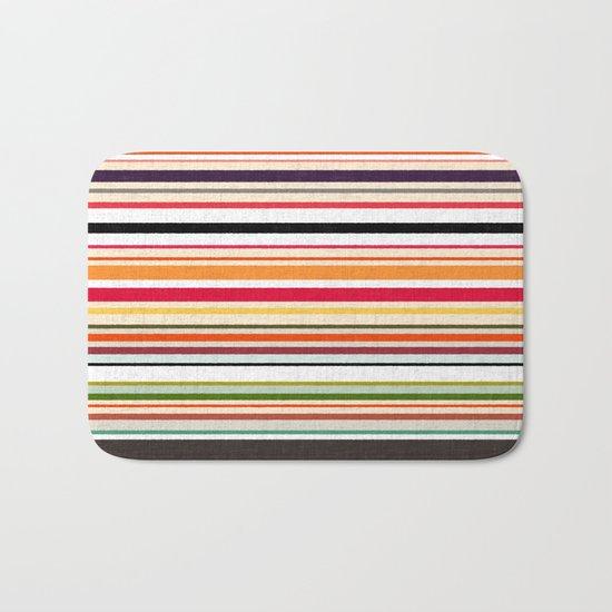 apartment stripe Bath Mat