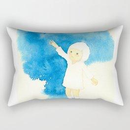 wait for me balloon girl Rectangular Pillow